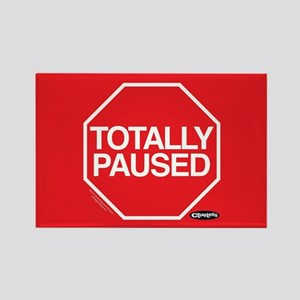 Clueless - Totally Paused Rectangle Magnet