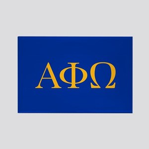 Alpha Phi Omega Letters Yellow Rectangle Magnet