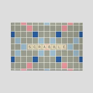 Scrabble Tiles Rectangle Magnet