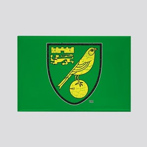 Norwich Canaries Crest Rectangle Magnet