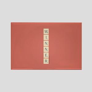 Scrabble Winner Rectangle Magnet