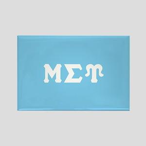 Mu Sigma Upsilon Sorority Letters Rectangle Magnet