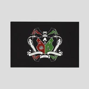 Sigma beta Rho Fraternity Crest Rectangle Magnet