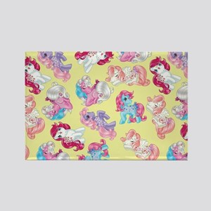 My Little Pony Retro Three Ponies Rectangle Magnet