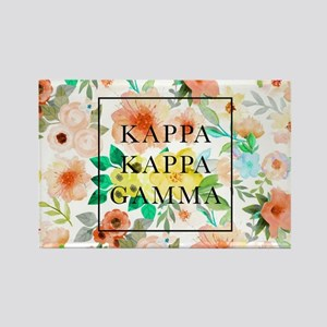 Kappa Kappa Gamma Floral Rectangle Magnet