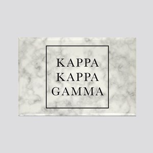 Kappa Kappa Gamma Marble Rectangle Magnet
