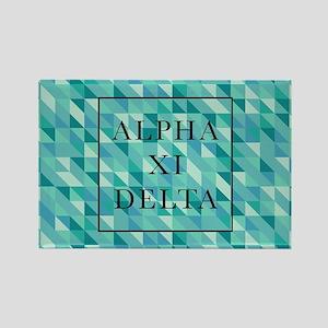 Alpha Xi Delta Geometric Rectangle Magnet