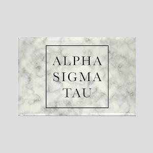 Alpha Sigma Tau Marble Rectangle Magnet