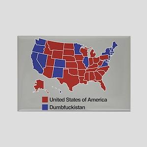 Map of Dumbfuckistan Magnets