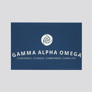 Gamma Alpha Omega Rectangle Magnet
