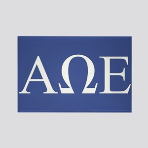 Alpha Omega Epsilon Letters Rectangle Magnet