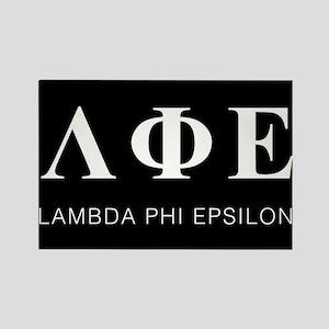 Lambda Phi Epsilon Letters Rectangle Magnet