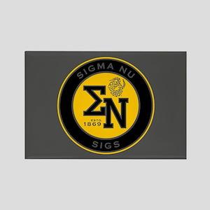 Sigma Nu Badge Rectangle Magnet