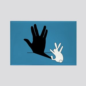 Star Trek Rabbit Vulcan Hand Shad Rectangle Magnet