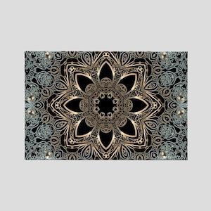 bohemian floral metallic mandala Magnets