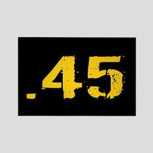 .45 Ammo: Black & Gold Rectangle Magnet
