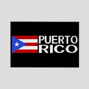 Puerto Rico: Puerto Rican Flag & Rectangle Magnet