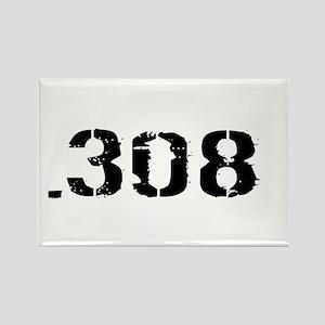Ammunition: .308 (White) Rectangle Magnet