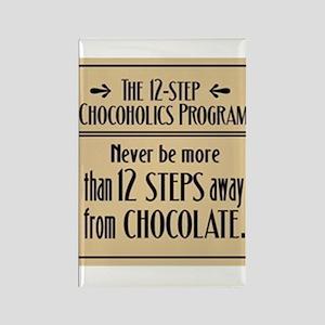 12-Step Chocolate Program Rectangle Magnet