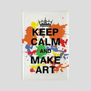 Keep Calm and Make Art Rectangle Magnet
