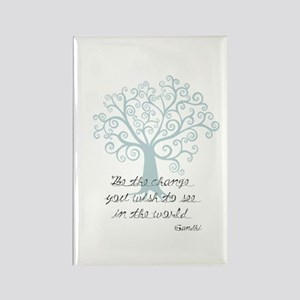 Be the Change Tree Rectangle Magnet