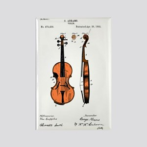 Fiddle (Full) Patent Rectangle Magnet