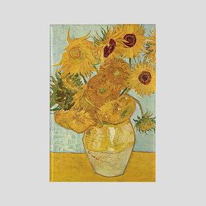 Van Gogh Sunflowers Rectangle Magnet