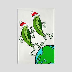 Christmas Peas on Earth Rectangle Magnet