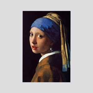 Girl With a Pearl Earring Rectangle Magnet