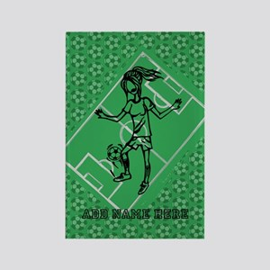 Personalized Soccer girl MOM design Rectangle Magn