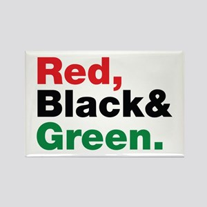 Red, Black and Green. Rectangle Magnet