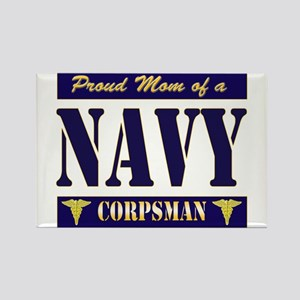 Corpsman Mom Rectangle Magnet
