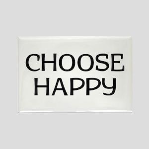 Choose Happy Rectangle Magnet