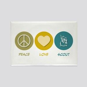 Peace Love Scout Rectangle Magnet