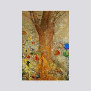 Odilon Redon Buddha In His Youth. Rectangle Magnet