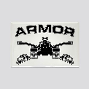 Armor Branch Insignia (BW) Rectangle Magnet