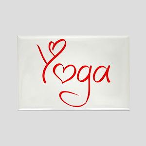 yoga-jel-red Rectangle Magnet