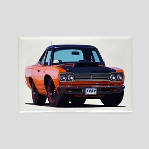 BabyAmericanMuscleCar_69_RoadR_Xmas_Orange Magnets