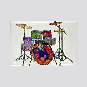 Wild Drums Rectangle Magnet