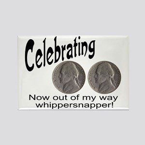 55 Birthday Whippersnapper Rectangle Magnet