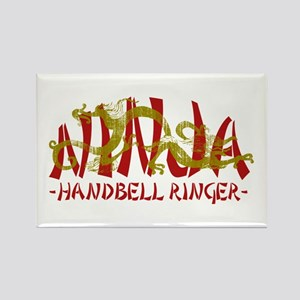Dragon Ninja Handbell Ringer Rectangle Magnet