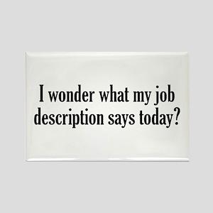 Job Description Rectangle Magnet