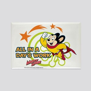 Mighty Mouse: All In A Days Work Rectangle Magnet