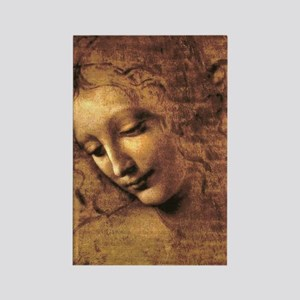 Leonardo Da Vinci La Scapigliata Rectangle Magnet