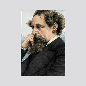 Charles Dickens, English author Rectangle Magnet