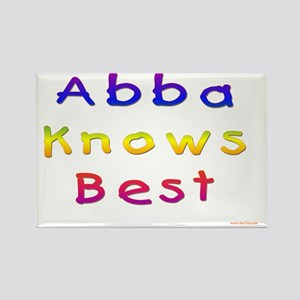 Abba Knows Best Rectangle Magnet