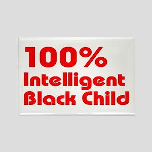 100% Intelligent Black Child Rectangle Magnet