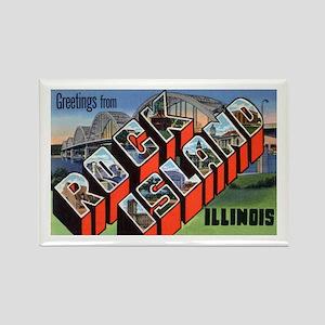 Rock Island Illinois Greetings Rectangle Magnet