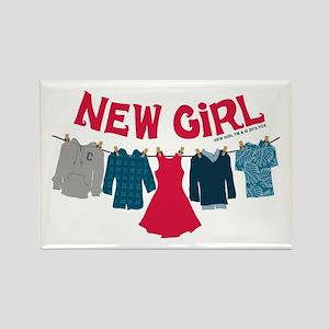 New Girl Laundry Rectangle Magnet