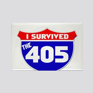 I survived the 405 Rectangle Magnet
